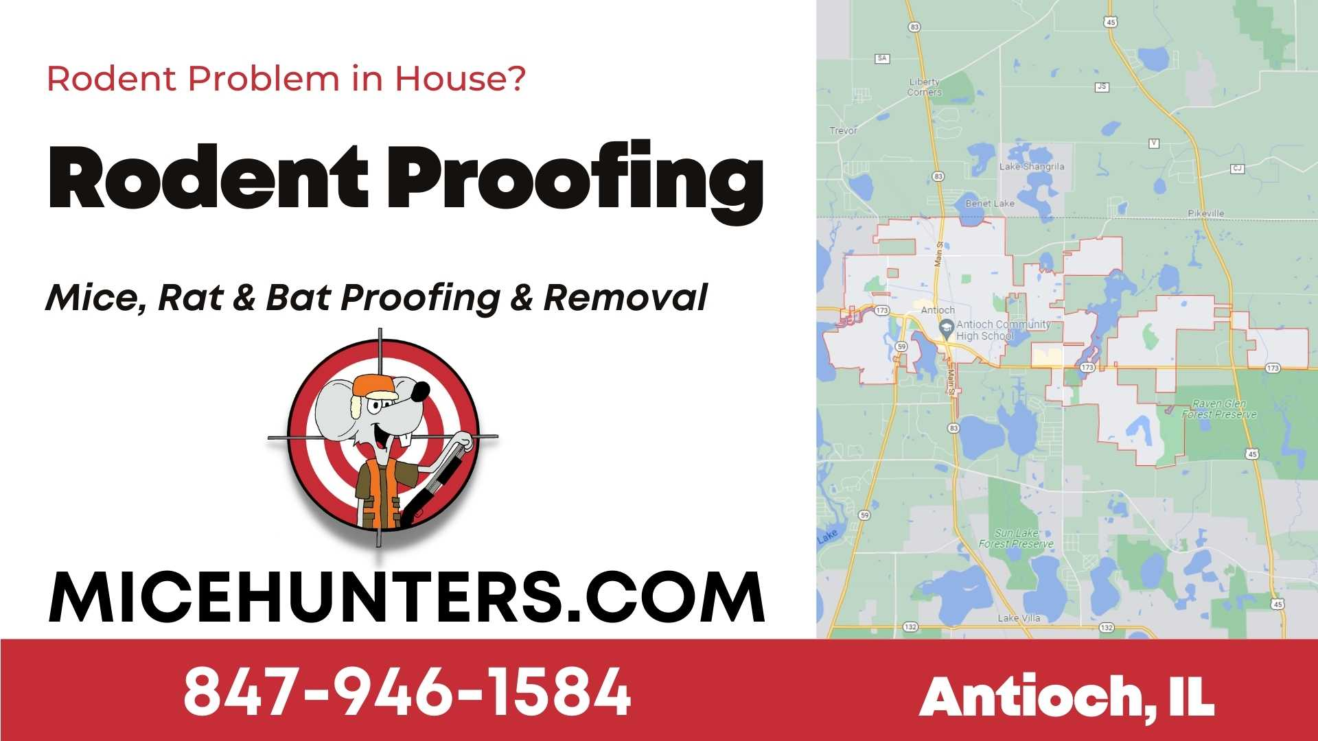 Antioch Rodent and Mice Proofing Exterminator near me
