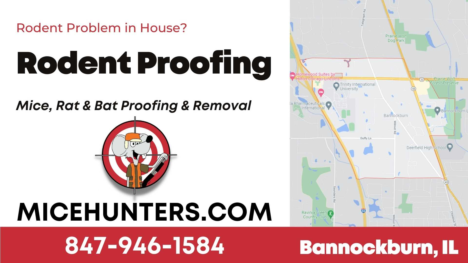 Bannockburn Rodent and Mice Proofing Exterminator near me