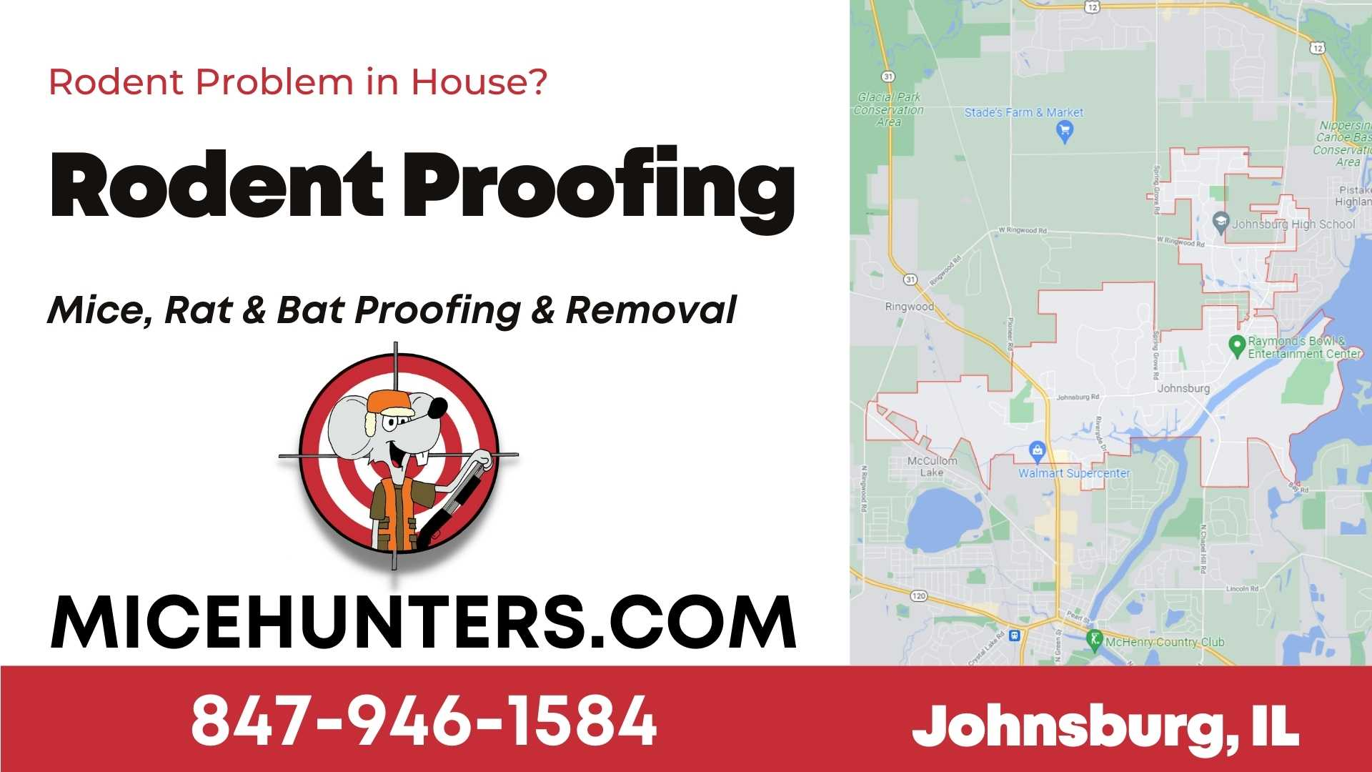 Johnsburg Rodent and Mice Proofing Exterminator