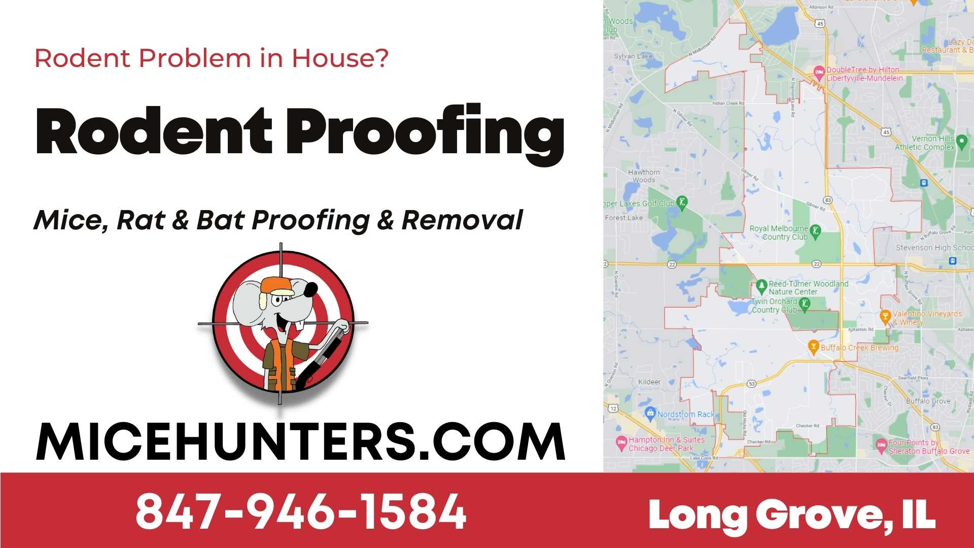 Long Grove Rodent and Mice Proofing Exterminator Near Me
